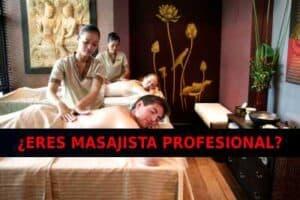 Masajistas profesionales en México tranajando.